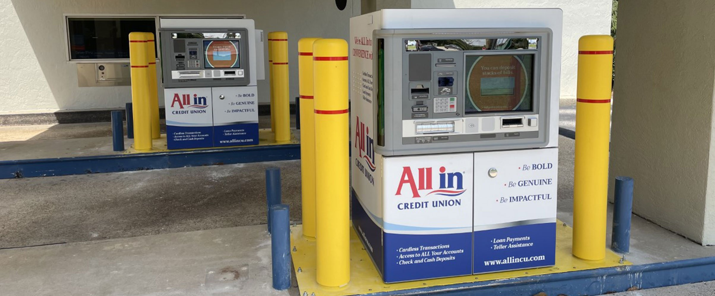 All In Credit Union branded ITMs