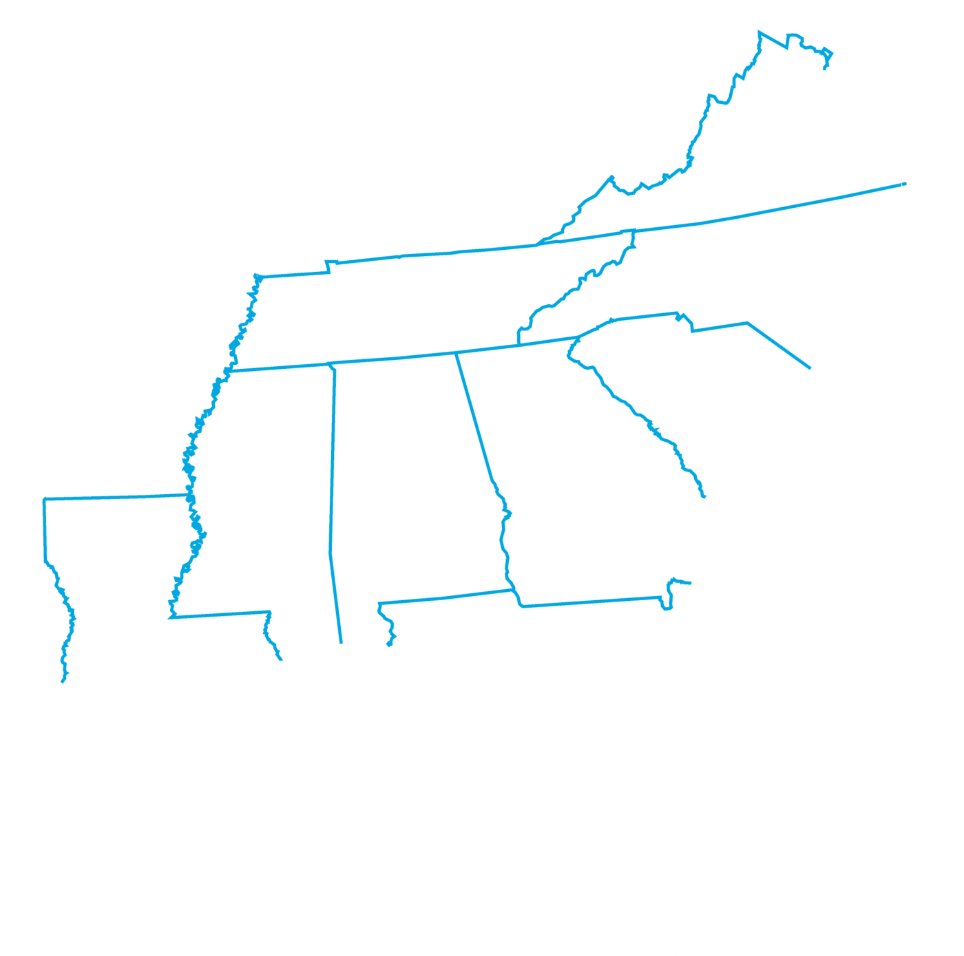 East coast_9 states_white inverse